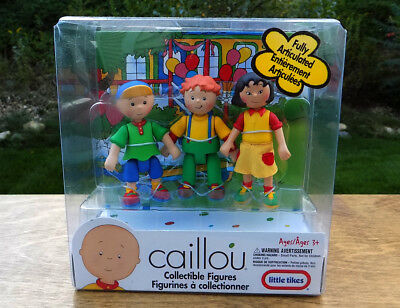 PBS CAILLOU Poseable CAILLOU figure SARAH & LEO Figures toy RARE ~ NEW!