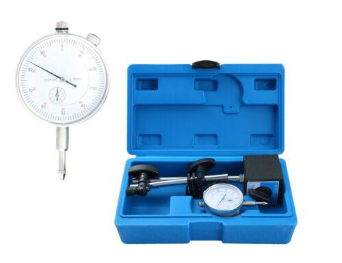 Test Precision Measuring Dial Indicator Gauge Magnetic Base Set 0.01mm