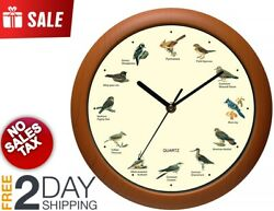 Singing Bird Wall Clock 12 Inch Design Of The Bird Names And Songs Vintage