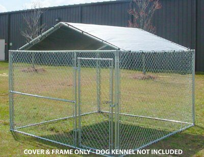 Dog House Canopy Cage Cover Shade Shelter Outdoor Pen Pet 10x10 Kennel Tent King