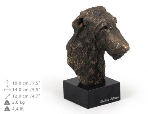 Deerhound, dog bust marble statue, ArtDog Limited Edition, USA