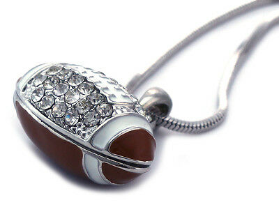 Football Brown Ball Charm Sports Player Pendant Necklace Boy Girl Jewelry n2024](Football Necklaces)