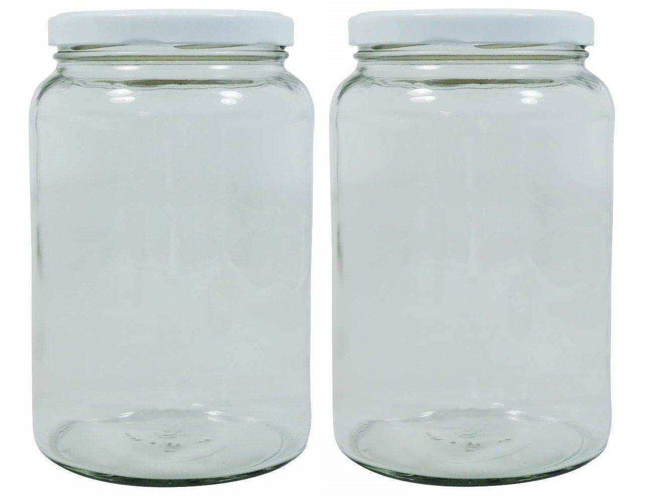 Einmachgläser 1 Liter : mikken 2 grosse einmachgl ser 1 7 liter vorratsgl ser mit deckel etiketten wei ebay ~ Watch28wear.com Haus und Dekorationen