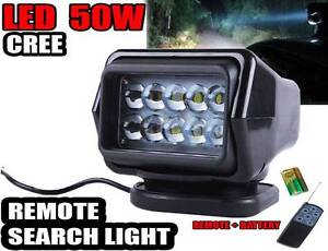Remote  Search Light 50w 12v Cree LED Work Spot  Offroad Truck Wangara Wanneroo Area Preview