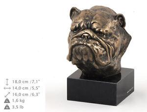English Bulldog, dog bust marble statue, ArtDog Limited Edition, USA - <span itemprop='availableAtOrFrom'>Zary, Polska</span> - English Bulldog, dog bust marble statue, ArtDog Limited Edition, USA - Zary, Polska