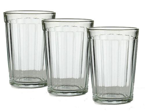 Set of 3 Russian Tea Glasses for Holder Podstakannik Soviet Granyonyi Glassware