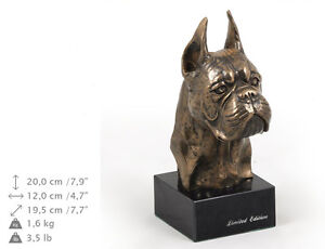 Boxer cropped, dog bust marble statue, ArtDog Limited Edition, AU - <span itemprop='availableAtOrFrom'>Zary, Polska</span> - Boxer cropped, dog bust marble statue, ArtDog Limited Edition, AU - Zary, Polska