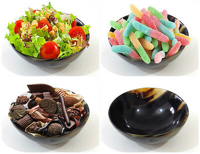 Dessert Food Serving Bowl Nut Salad Real Buffalo Horn Handmade Non-Microwaveable Horn Dessert
