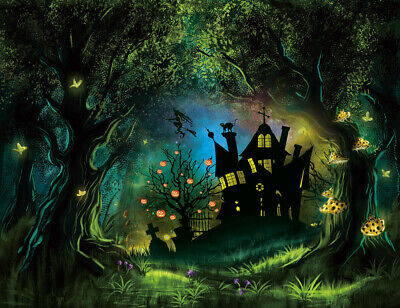 Photo Background Halloween Spooky Forest Haunted House Backdrop Studio Props](Spooky Halloween Background)
