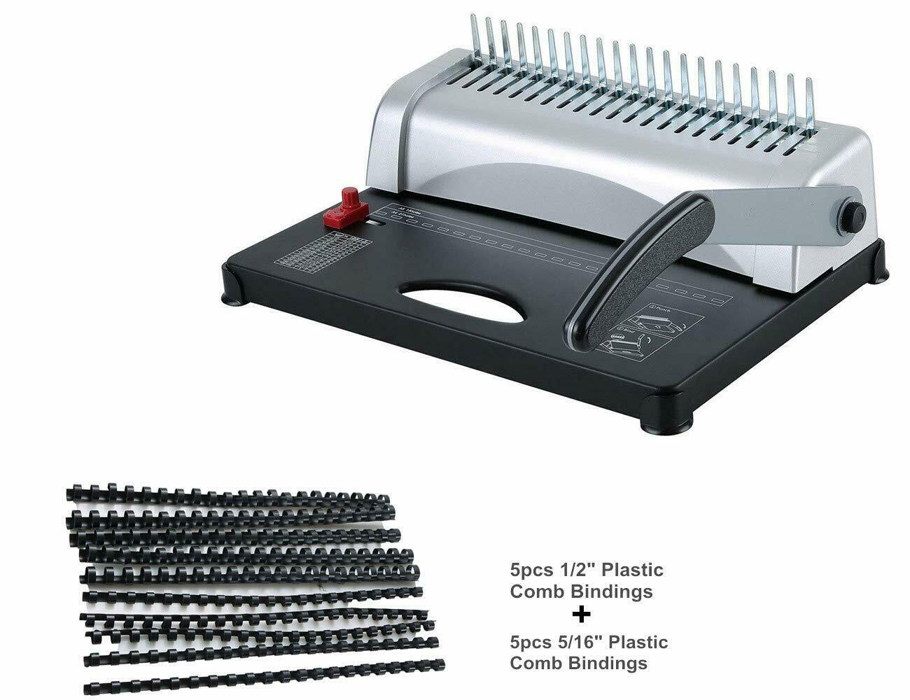 Binding Machine with Starter Combs Set - 21 Hole / 450 Sheet