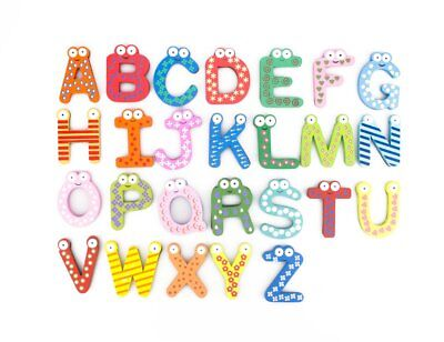 Magnetic Letters Fridge ABC Alphabet Magnets Toddlers Baby Large Magnet Letter