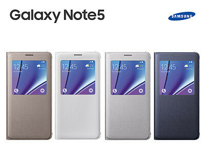 Genuine Samsung Galaxy Note 5 Slim S View Flip Cover Phone Case Skin
