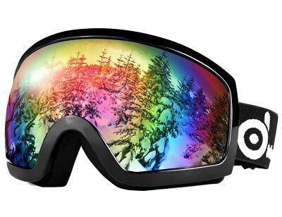 ODOLAND Large Spherical Frameless Ski goggles Double Lens for Men Women Kids