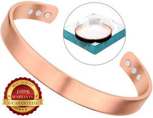 Copper Magnetic Bracelet 6 Magnets Pain Healing Arthritis Cuff Bangle Wristband