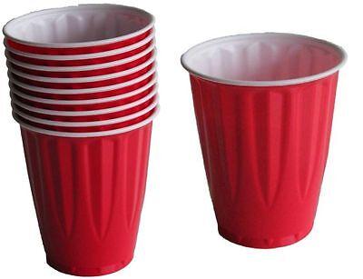 240 x 18oz Premium Heavy Weight Red Plastic Disposable Cups Beer Schooner - Red Plastic Cups Bulk