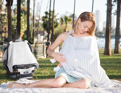स्तनपान और शिशु कार सीट कैनोपी कवर के लिए एप्रन नर्सिंग दुपट्टा कवर