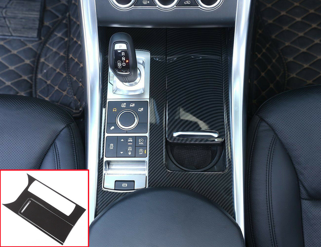 For Land Rover Range Rover Sport Inner Centre Console Panel Cover Trim 2014-2017
