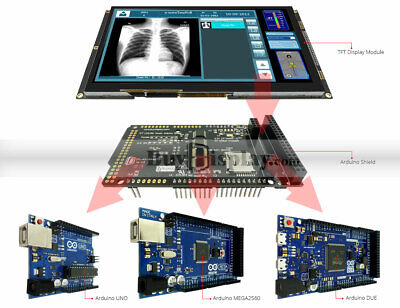 9 Inch 800x480 Tft Lcd Display Wcapaictive Touch Shield For Arduino Duemega