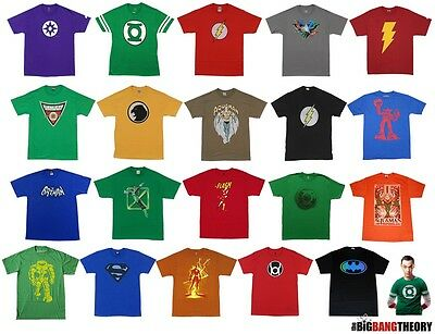 Sheldon Cooper The Big Bang Theory Choose From DC Comics Licensed Adult Shirt