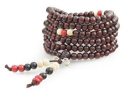 Buddhist Prayer Chain Sandalwood 216 Beads Mala Chain Tibet Rosary Bracelet