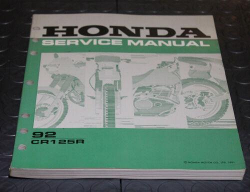 NOS OEM Honda Service Shop Manual NEW 92 CR125R CR125 R