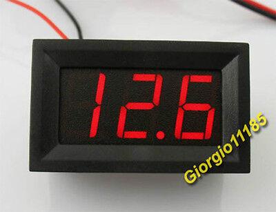 Us Stock Mini Red Led Digital Panel Amp Meter Gauge 09.99a Dc