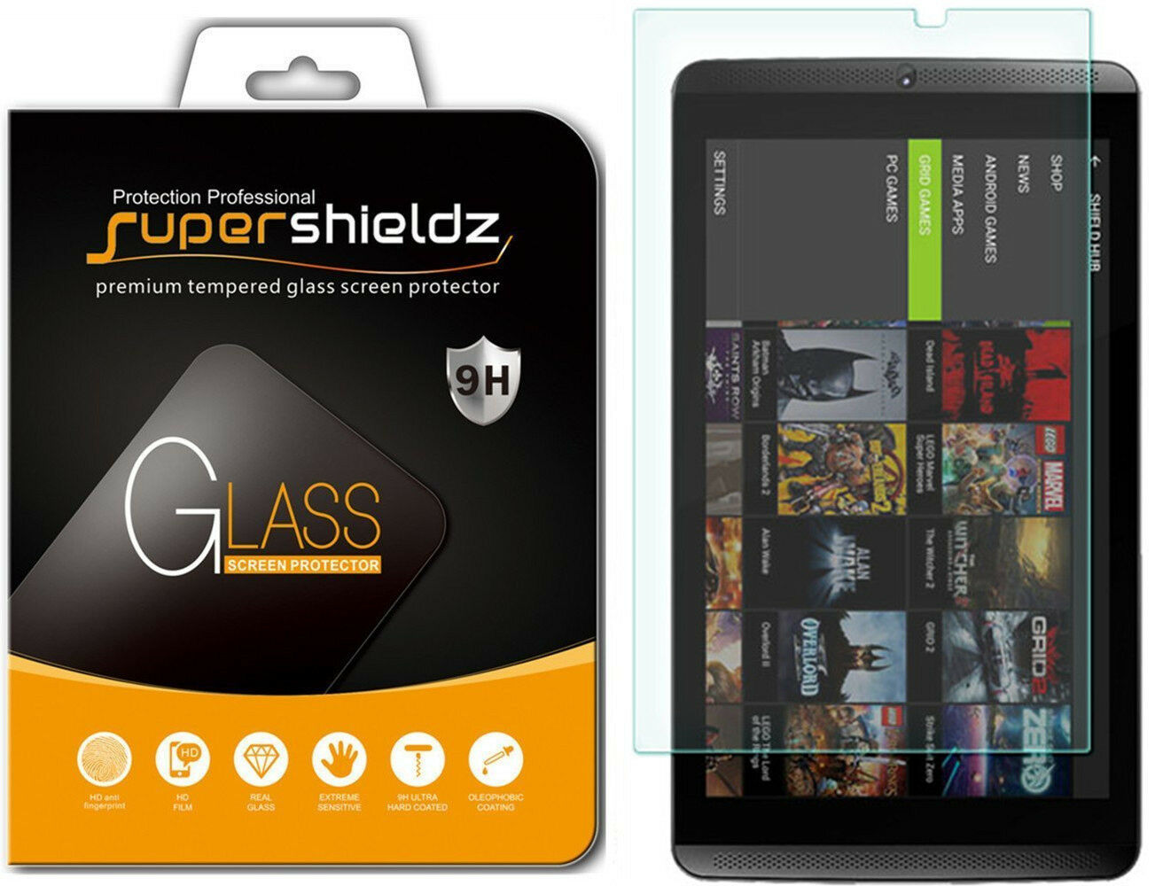 GENERIC Tempered Glass Screen Protector For NVIDIA Shield Ta