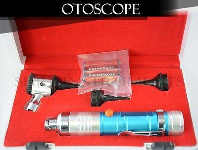 Otoscope Set Blue Ent Medical Diagnostic Instruments   Batteries Included