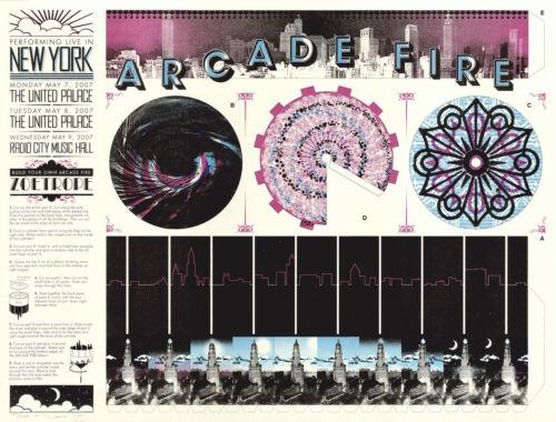 MINT & SIGNED Arcade Fire 2007 New York City Burlesque Poster