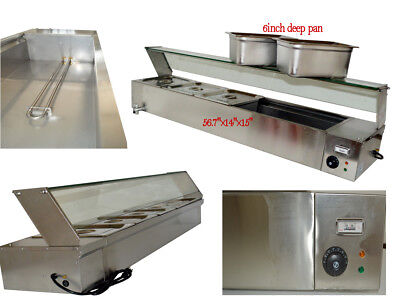 6deep Pan 5-pan Countertop Steam Table Bain Marie Food Warmer 110v1500w Us New