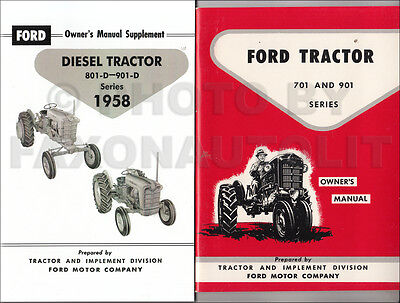 1958-1962 Ford 701 901 Diesel Tractor Owners Manual Set 741 771 941 971 981-d