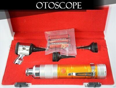 Otoscope Set Amber Ent Medical Diagnostic Instruments  Batteries Included