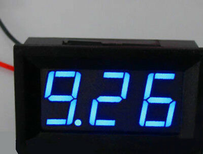 Us Stock Mini Blue Led Digital Panel Amp Meter Gauge 50a Dc Shunt