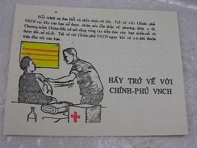 Authentic South Vietnam War Truyen Don Propaganda Leaflet Tro Ve Voi VNCH