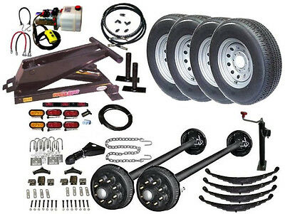 Hydraulic Dump Trailer Parts Kit - Tandem Electric Brake Axles - Model 14HD (Hydraulic Trailer)