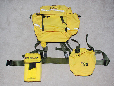 Nos Forest Service Fss - Fire Shelter Backpack Waist Belt Pouch Complete Rig