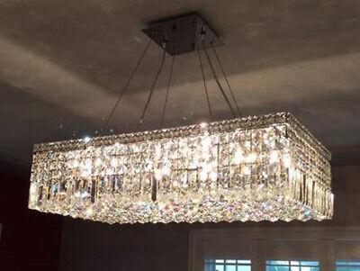 Cascade Maxime 16 Light 32 in. Rectangle Lead Crystal Chandelier Modern Art -
