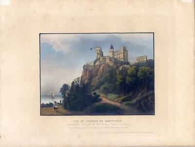 Rheinstein - Trechtingshausen - Aquatintaradierung - Bleuler 1843
