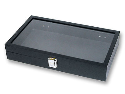 Jewelry Display Case Glass View Top Military Medals Knife Rings Bracelets Pins