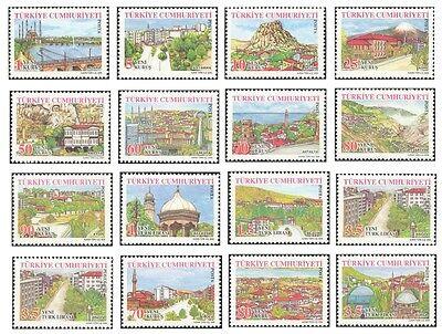 Definitive Postage Stamps - TURKEY 2005,  DEFINITIVE POSTAGE STAMPS, TURKISH PROVINCES - 1, MNH