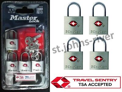 4-PACK MASTER LOCK TSA APPROVED TRAVEL LUGGAGE BAGGAGE - KEYED ALIKE 4683Q