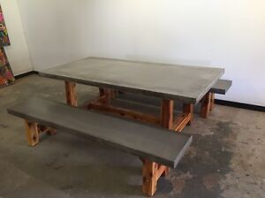 Outdoor concrete dining setting Dulwich Hill Marrickville Area Preview