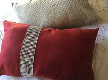 Red and cream cushion Lakemba Canterbury Area Preview