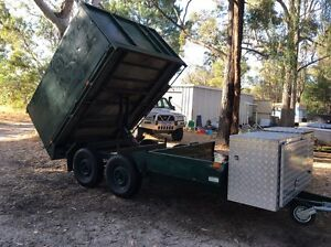 2 tonne Tipping trailer with mower deck Karnup Rockingham Area Preview