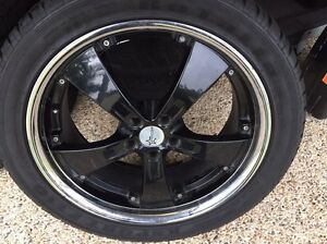 20 inch Starcorp Alloy Mag wheels BLACK x4 with tyres Runcorn Brisbane South West Preview