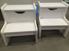 TREEHOUSE White 'Shannon' Kids Step Stools X 2 Milperra Bankstown Area Preview