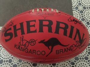 Official Sherrin Collingwood signed Craigieburn Hume Area Preview