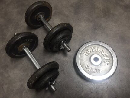 Bench Press / Free Weights / Olympic Barbell / 176kg Plates