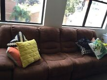 Brown suede sofa - 4 seater Woolloomooloo Inner Sydney Preview