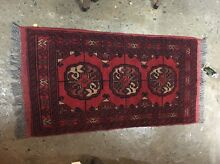 Exquisite Persian turcoman wool rug vintage carpet red Glebe Inner Sydney Preview